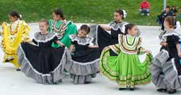 Dancers Entertain Spectators