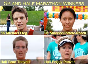 2008 5K and Half Marathon Winners
