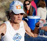 Runner Gets Water Break